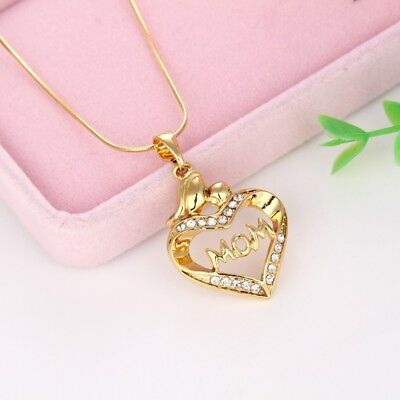 "Women's Pendant Necklace Mom Gift 18k Yellow Gold Filled 18"" Fashion Link New"