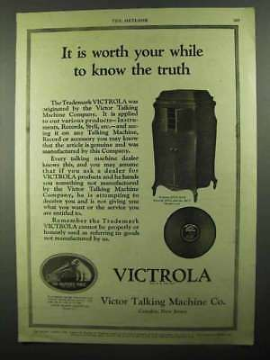 1920 Victor Victrola XVII Ad - It is Worth Your While