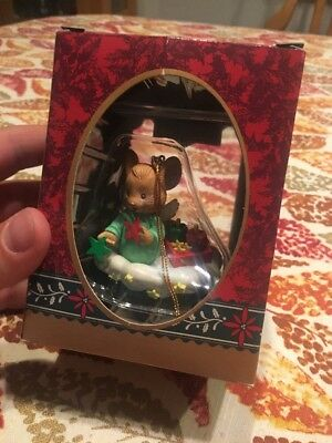 Vintage Christmas Ornament Matrix 1993 Angel Mouse On A Cloud Holiday