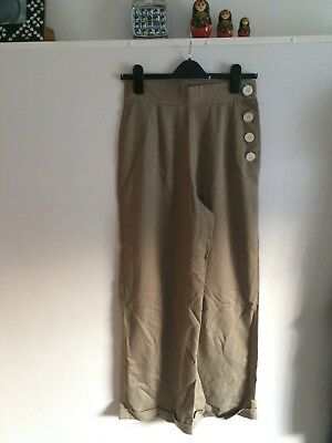 Heyday Vintage 1940's Style Trousers 10 Stone. Goodwood Revival. Rockabilly.
