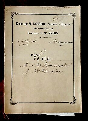 Autographed and Handwritten Document 1881