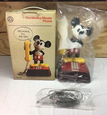 Vtg Western Electric Walt Disney 1976 Mickey Mouse Phone Push Button Telephone