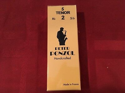 BOX OF 10  MADE IN FRANCE PETER PONZOL SIZE 2 HANDCRAFTED Bb CLARINET REEDS