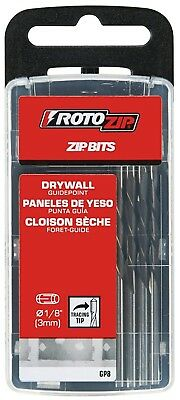 RotoZip GP8 1/8-Inch Guide Point Drywall Cutting Zip Bit Drill 8-PACK BRAND NEW