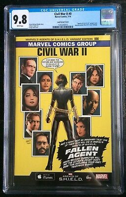 Civil War II #0 Agents Of SHIELD Greg Land Variant ASM #121 Homage CGC 9.8