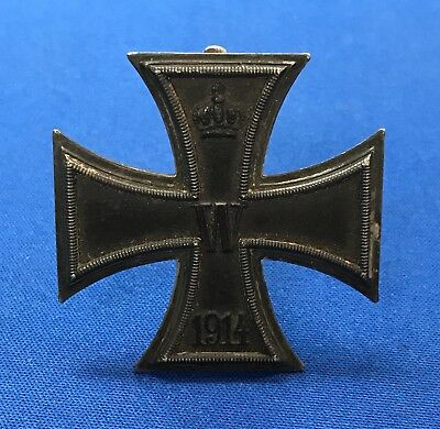 *VINTAGE & RARE WW1 IRON CROSS 1st CLASS FOR BRAVERY CD .800 MARKED MEDAL BADGE*