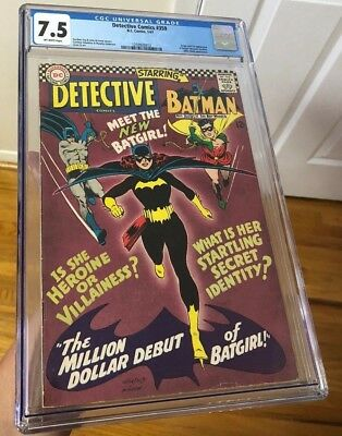 DETECTIVE COMICS 359 CGC 7.5 - 1st app. of Batgirl! Barbara Gordon! KEY! NICE!