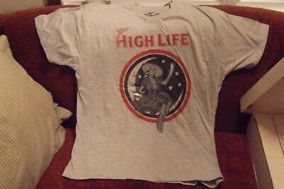 "Official ""miller High Life"" Brand T Shirt Large Gray New W/ Tags Free Shipping"