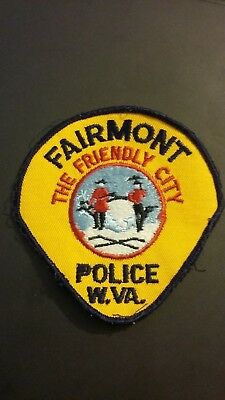 FAIRMONT WEST VIRGINIA POLICE SHOULDER PATCH-  The Friendly City