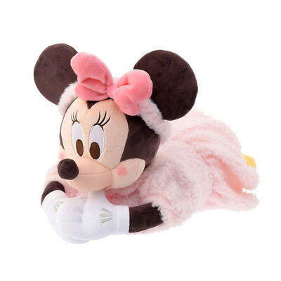 Tissue box cover Minnie Mouse relax 2018 Disney Store Japan F/S Plush item pink