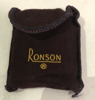 Vintage Ronson Standard Lighter In Original Pouch ~ Excellent Condition