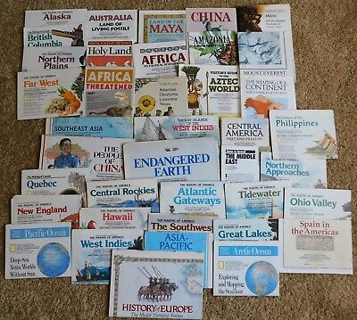 Lot Of 42 National Geographic Map Inserts Mostly 1980's - 1990's