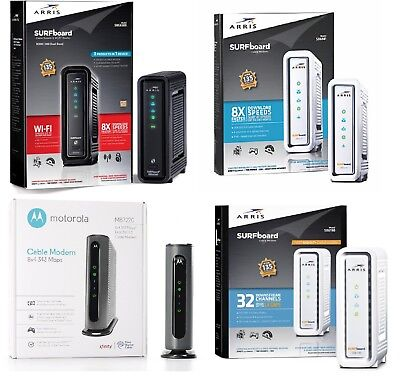 MOTOROLA ARRIS DOCSIS 3 0 Cable Modem Router COMSAST, XFINITY, TIME WARNER,  COX