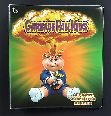 Topps GREEN Adam Bomb Garbage Pail Kids Official Collectors Binder 2013 RARE
