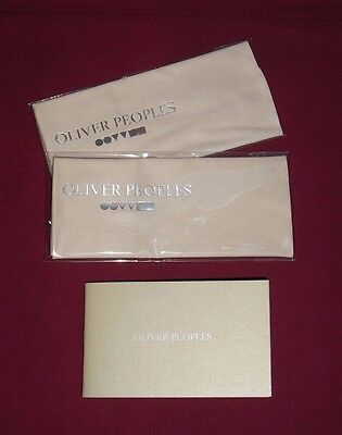 Oliver Peoples : Glasses Cleaning Cloth X 2 / 2 Tissus Microfibre Pour Lunettes