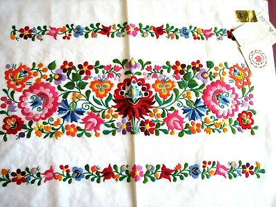RARE hand embroidered Hungarian MATYO FOLK EMBROIDERY PILLOW COVER Hungary NWT