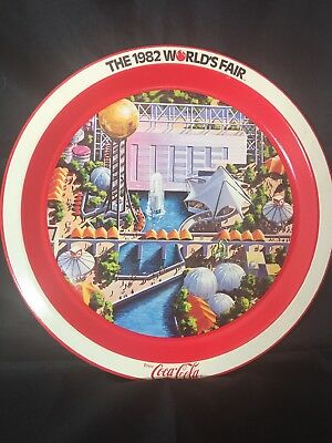 Vintage World's Fair Coca Cola Souvenir Metal Tray 1982 Knoxville Tenn. EUC Pict