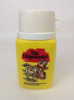 Alvin and The Chipmunks Thermos Complete Vintage 1983 Original Lunch Box Drink
