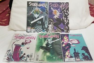 (5) Marvel Comics Spider-Gwen Variant Editions First Prints (VF to NM)