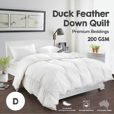 DOUBLE SIZE 50/50 White Duck Down Feather Summer Weight Quilt/Duvet/Blanket