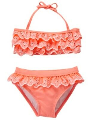 NWT Gymboree Ruffle Swimsuit 2pc  Swim shop Girls UPF 50+ Many Sizes