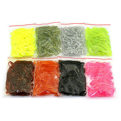 50PCS Colorful Worm Soft Lures Fishing Bait Tail Capuchin Maggots Set