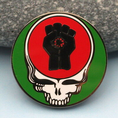 Grateful Dead Skull Pin steal your face 1 1/4 in Hunter S.Thompson Gonzo Fist D
