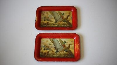 Miller High Life Tin Trays Printed Vintage