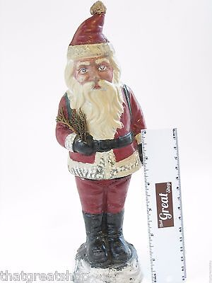 Vintage Composition Santa Candy Container Standing Late 19th Century-Christmas