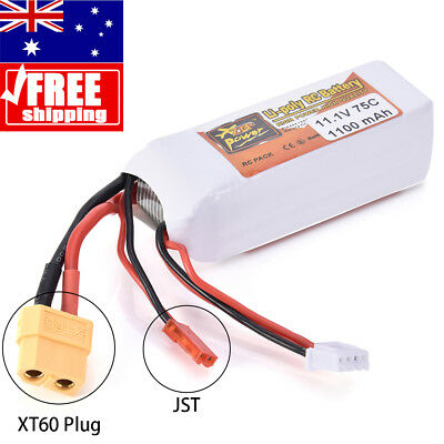 AU!!! 3S 1100mAh 11.1V 75C Lipo Battery for RC Helicopter Airplane Car Battery