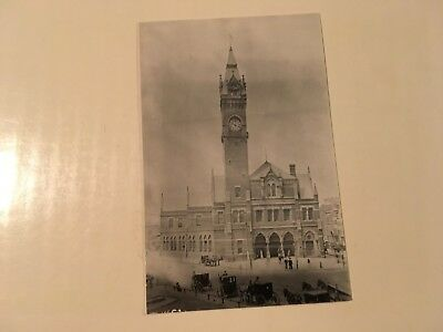 Vintage photo NY NH & H Railroad station Park Square Boston MA