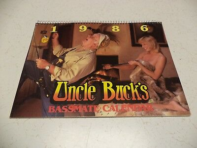 1986 Uncle Buck'S Bassmate Calendar Bass Pro Shops