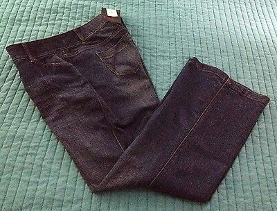 Nwt $69.95 Lane Bryant Flare Tighter Tummy Technology Blue Jeans Women's Size 14