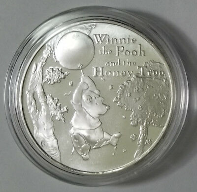 Winnie The Pooh And The Honey Tree 1 Oz .999 Fine Silver Coin