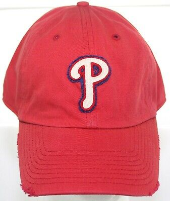 various colors 8b664 f96bc Philadelphia Phillies MLB Baseball Hat Twins Enterprise Fitted Cap Size XL  Red