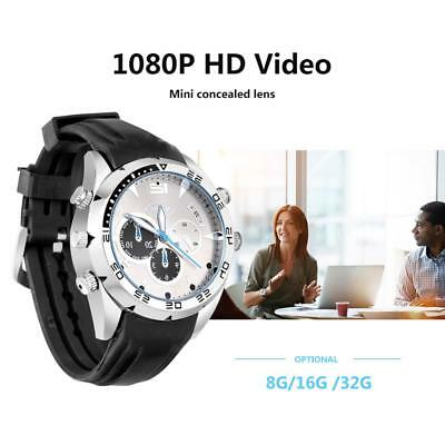 1080P HD Impermeable Mini Reloj de Pulsera Cámara Espía Oculta Video Grabadora