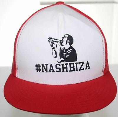 NWOT #Nashbiza Trucker Hat Snapback Cap The Classics by Yupoong Red & White