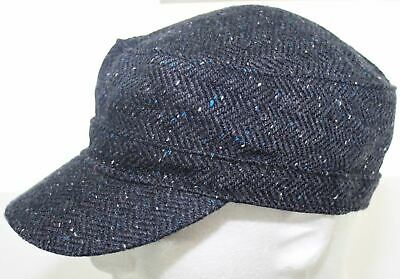 8c654cf89eb27 American Eagle Outfitters Wool Army Cadet Hat Blue & Gray Fitted Cap Size  Small