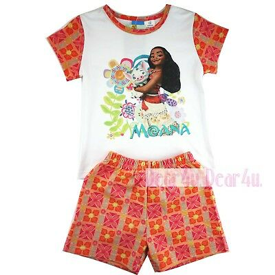 MOANA girls kids cotton summer top and short sleeve pjs size 2-7 AU stock new