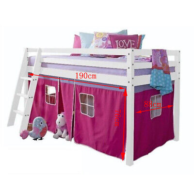 BED TENT Cabin Bed Tent Mid Sleeper Tent Child Bunk Bed Curtains with Pocket