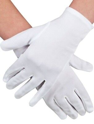 Ladies Short White Gloves for Costume Dress Ups Party Accessories 18540