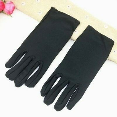 Ladies Womens Short Black Gloves for Costume Dress Up Party Accessories 18540