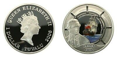 2006 $1 GREAT MARITIME EXPLORERS JAMES COOK Silver Proof Coin