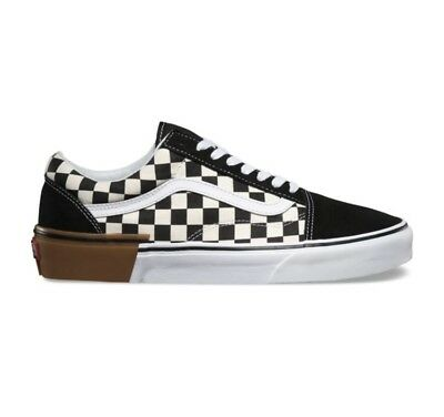 VANS OLD SKOOL Gum Block Checker Board Black White Size 11