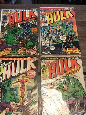 Lot Of 4 The Incredible Hulk Comics #175-178 #175 #176 #177 #178