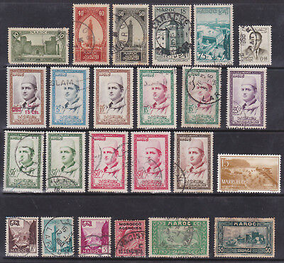 Morocco - Early Lot - Nice Selection Of 24 Stamps !!