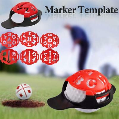 6-in-1 Golf Ball Line Liner Marker Template Drawing Alignment Marks Sign Tool