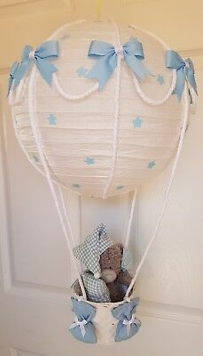 Hot Air Balloon with a me to you bear Looks Stunning  Nursery Baby