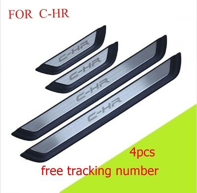 Accessories Door Sill Scuff Plate Stainless Steel Car Styling For C-Hr 16 -18