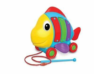 NEW First Play Pull Along Tune A Fish Kids Children Toy